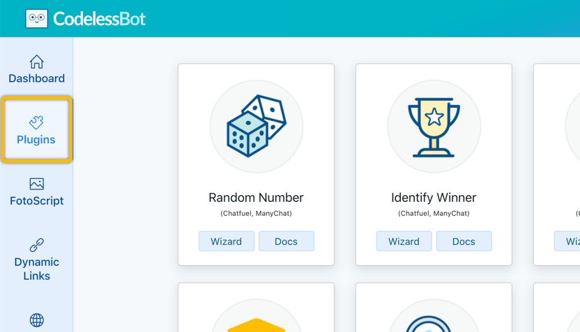 Getting Started with CodelessBot - Chatfuel - CodelessBot