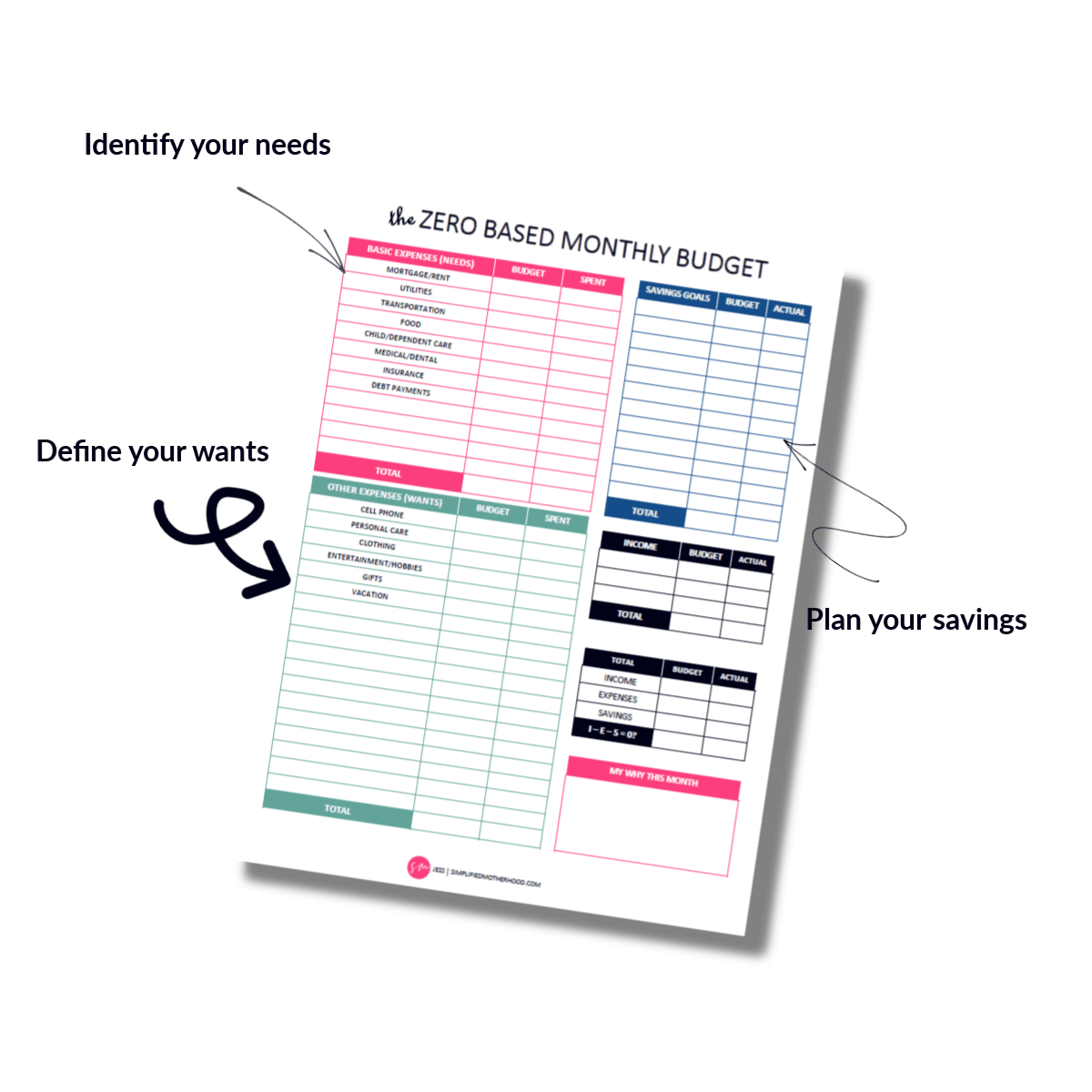 30] FREE Simple Budget Template Printable PDF – Simplified ...